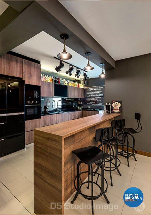 Eclectic Design - Kitchen - HDB 5 Room - Design by D5 Studio Image Pte Ltd