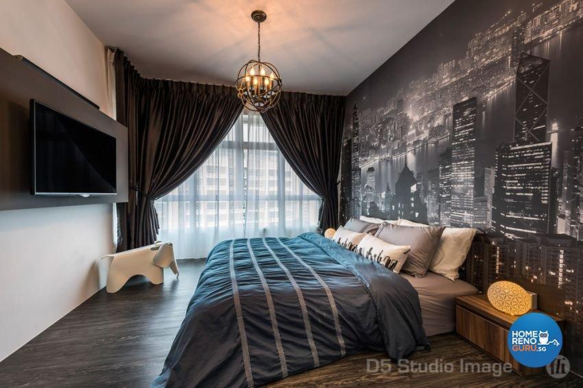 Eclectic Design - Bedroom - HDB 5 Room - Design by D5 Studio Image Pte Ltd