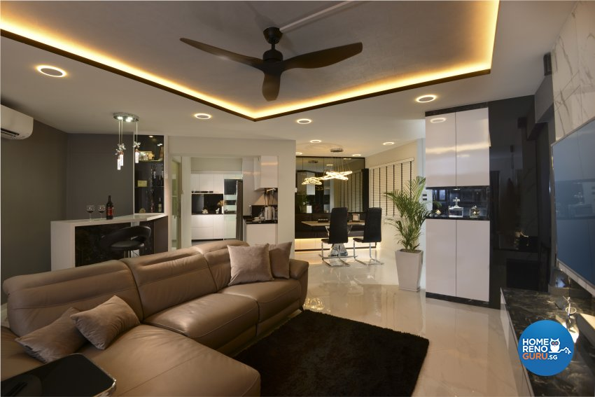 Modern Design - Living Room - HDB 5 Room - Design by Darwin Interior