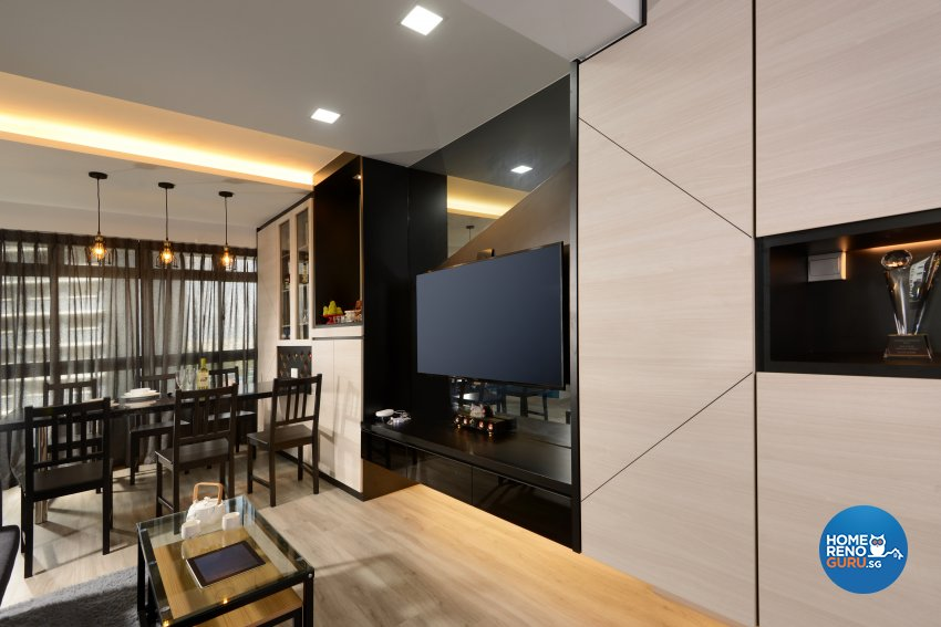 Contemporary Design - Dining Room - HDB 3 Room - Design by Darwin Interior