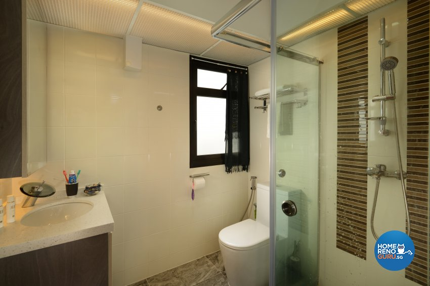Contemporary Design - Bathroom - HDB 3 Room - Design by Darwin Interior