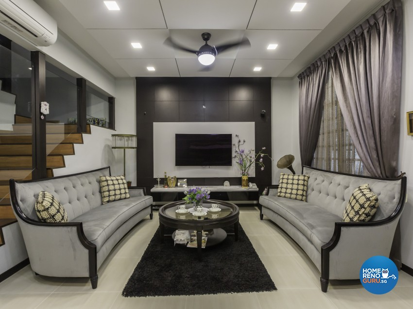 Contemporary Design - Living Room - Landed House - Design by Darwin Interior