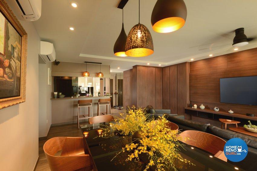 Contemporary Design - Dining Room - HDB 5 Room - Design by Darwin Interior