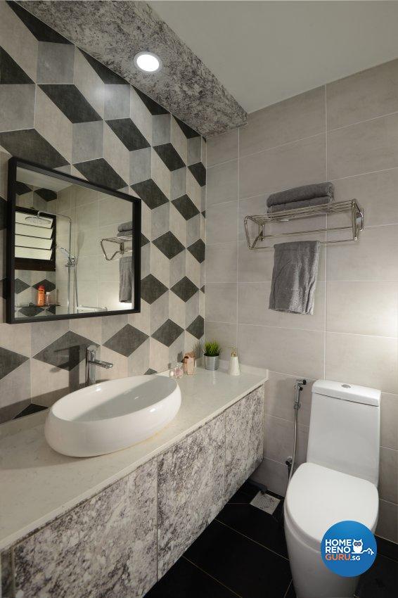 Modern Design - Bathroom - HDB 4 Room - Design by Darwin Interior
