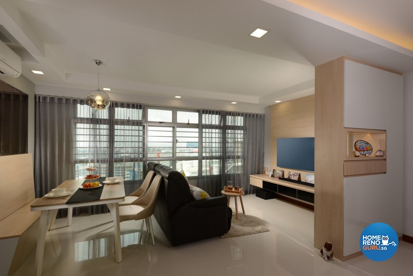 Contemporary Design - Living Room - HDB 4 Room - Design by Darwin Interior