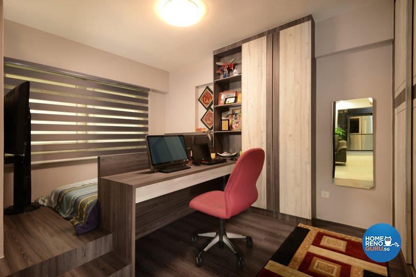 Modern Design - Bedroom - HDB 4 Room - Design by Darwin Interior