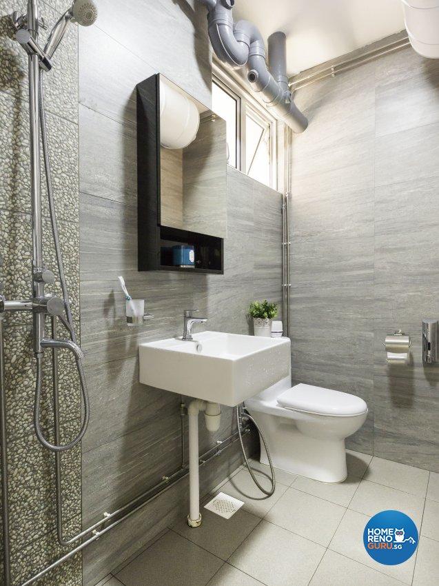 Contemporary, Modern Design - Bathroom - HDB 5 Room - Design by Darwin Interior