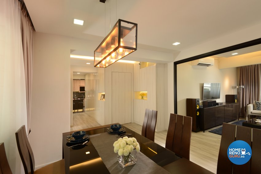 Modern, Resort Design - Dining Room - HDB 5 Room - Design by Darwin Interior