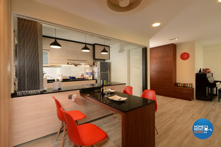 Contemporary, Modern Design - Kitchen - HDB 4 Room - Design by Darwin Interior