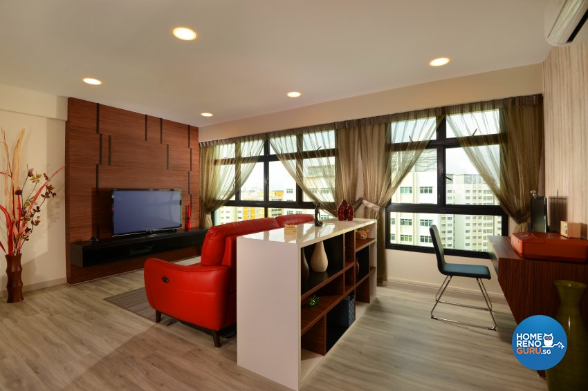 Contemporary, Modern Design - Living Room - HDB 4 Room - Design by Darwin Interior