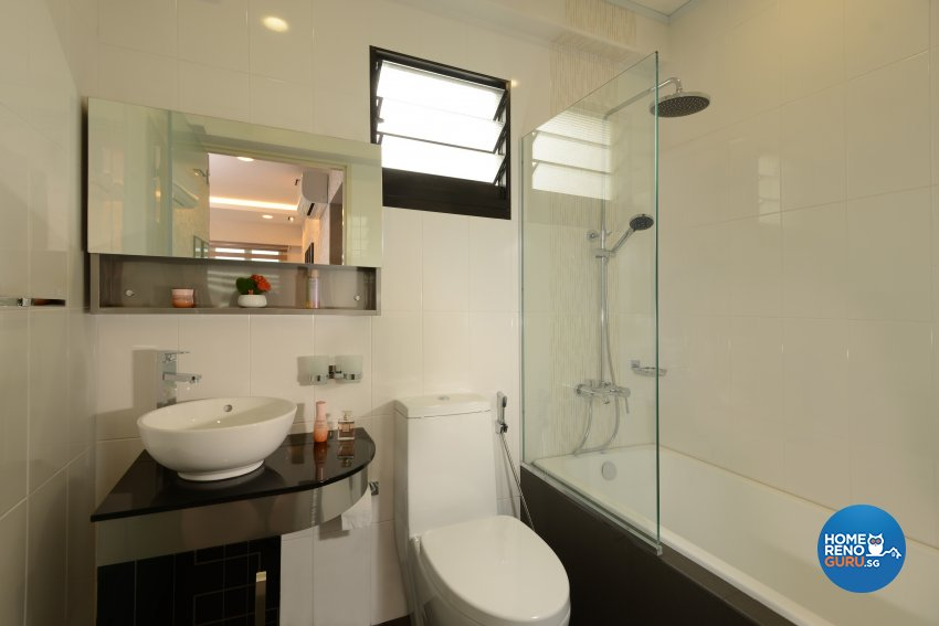 Contemporary, Modern Design - Bathroom - HDB 4 Room - Design by Darwin Interior