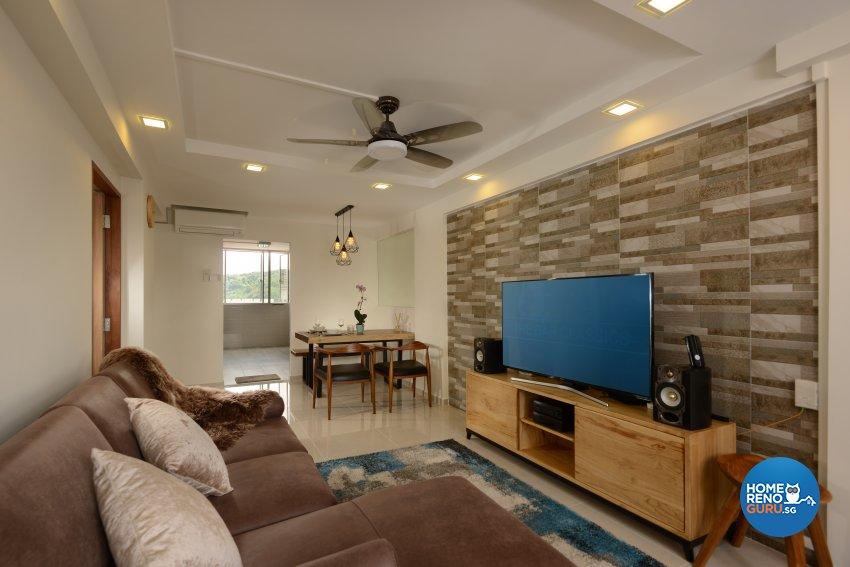 Modern Design - Living Room - HDB 3 Room - Design by Darwin Interior