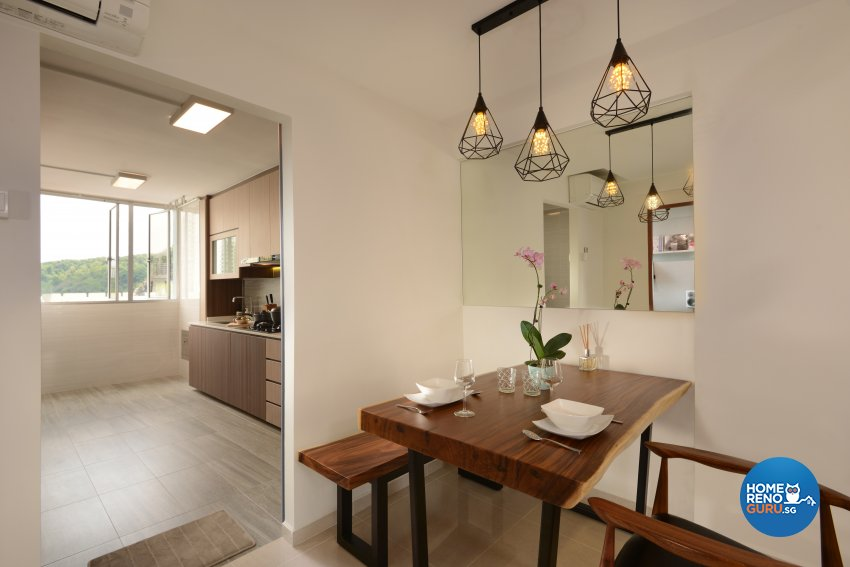 Modern Design - Dining Room - HDB 3 Room - Design by Darwin Interior