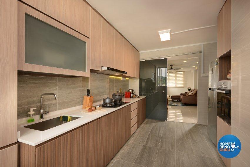 Modern Design - Kitchen - HDB 3 Room - Design by Darwin Interior