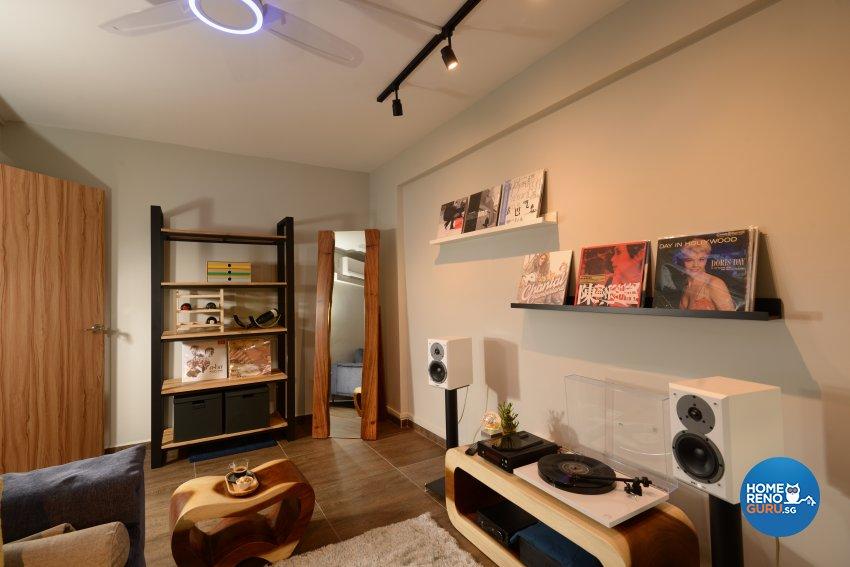 Modern Design - Entertainment Room - HDB 3 Room - Design by Darwin Interior