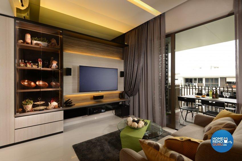 Contemporary, Modern, Resort Design - Living Room - Condominium - Design by Darwin Interior