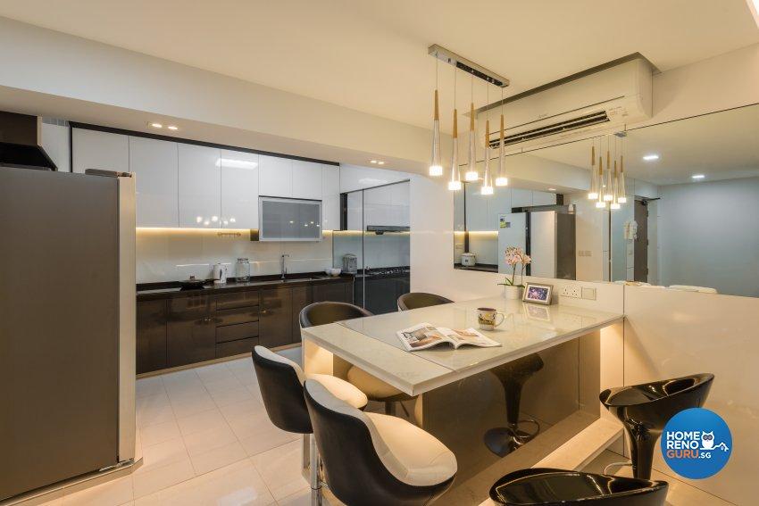 Contemporary, Minimalist, Modern Design - Dining Room - HDB 4 Room - Design by Darwin Interior