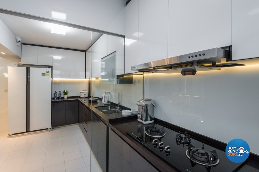 Contemporary, Minimalist, Modern Design - Kitchen - HDB 4 Room - Design by Darwin Interior