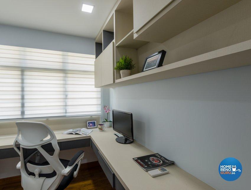 Contemporary, Minimalist, Modern Design - Entertainment Room - HDB 4 Room - Design by Darwin Interior