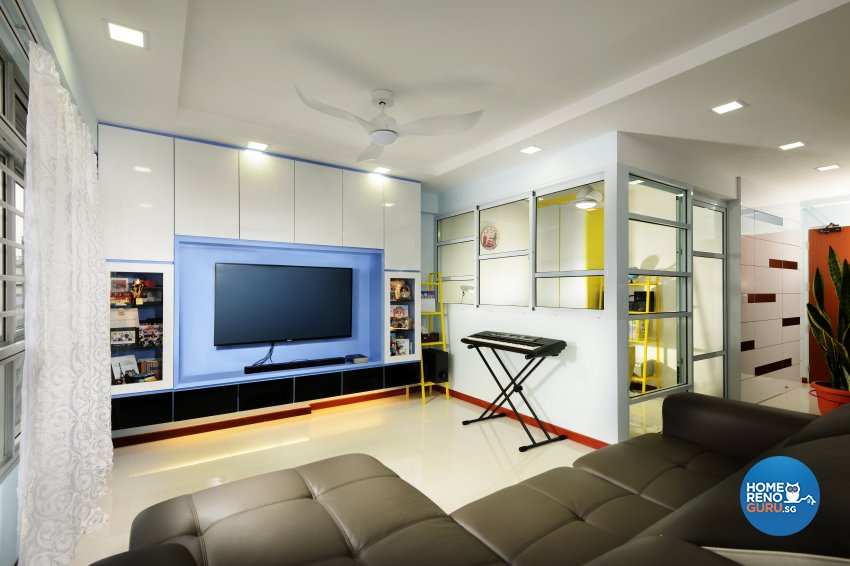 Contemporary Design - Living Room - HDB 5 Room - Design by Darwin Interior