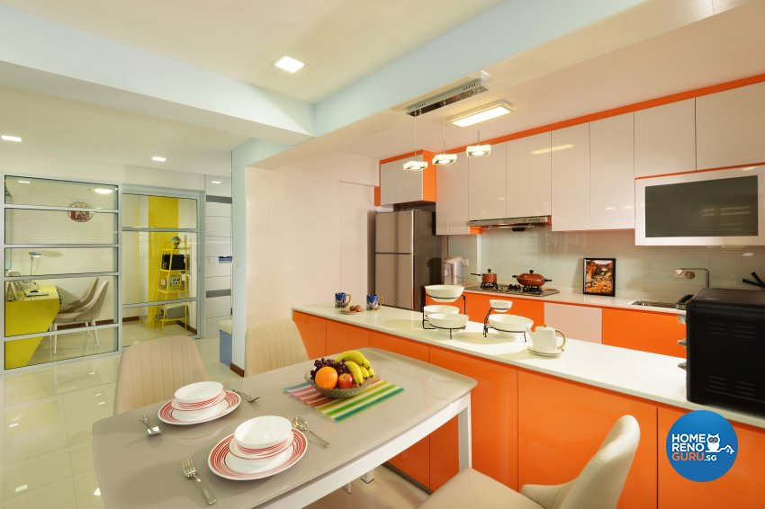 Contemporary Design - Dining Room - HDB 5 Room - Design by Darwin Interior