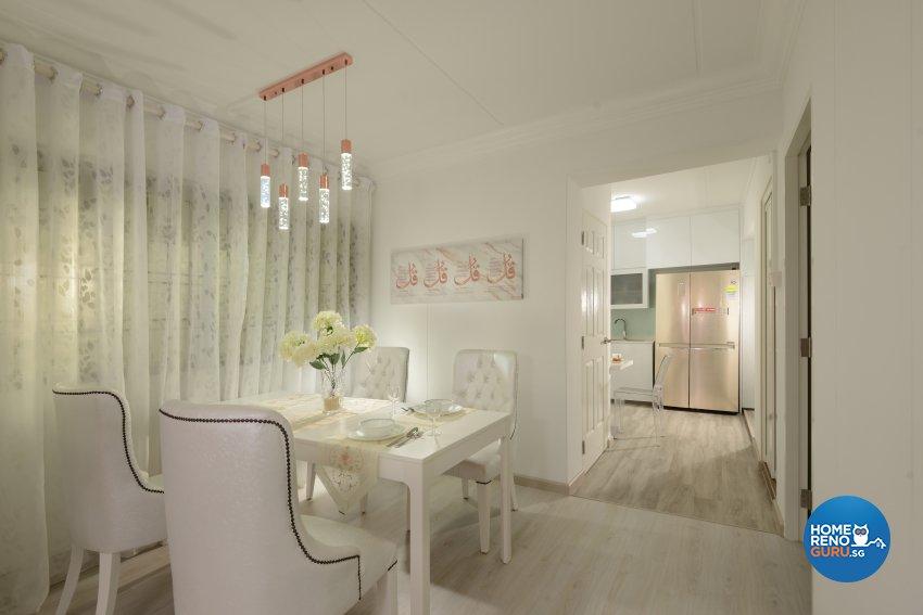 Contemporary Design - Dining Room - HDB 4 Room - Design by Darwin Interior