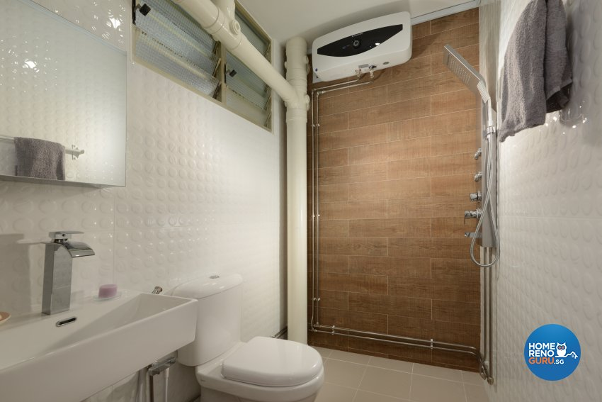 Contemporary Design - Bathroom - HDB 4 Room - Design by Darwin Interior