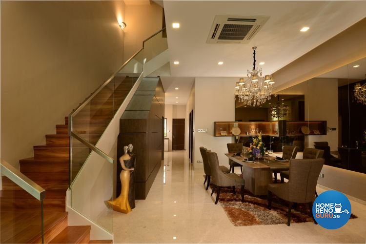 Classical, Modern, Tropical Design - Dining Room - Landed House - Design by Darwin Interior