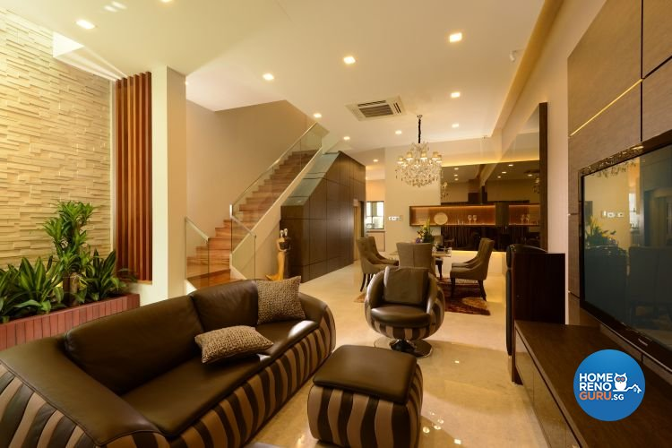 Classical, Modern, Tropical Design - Living Room - Landed House - Design by Darwin Interior