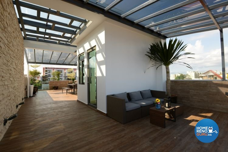 Classical, Modern, Tropical Design - Balcony - Landed House - Design by Darwin Interior