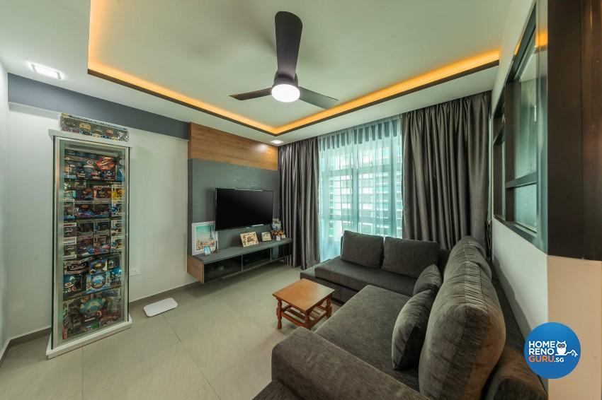 Industrial, Scandinavian Design - Living Room - HDB 4 Room - Design by Darwin Interior