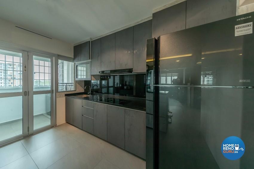 Industrial, Scandinavian Design - Kitchen - HDB 4 Room - Design by Darwin Interior