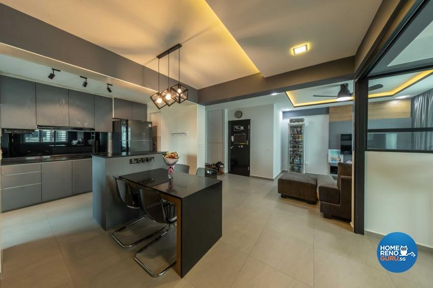 Industrial, Scandinavian Design - Dining Room - HDB 4 Room - Design by Darwin Interior