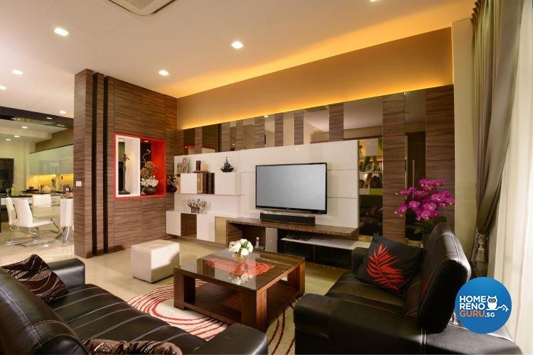 Contemporary, Modern Design - Living Room - Condominium - Design by Darwin Interior