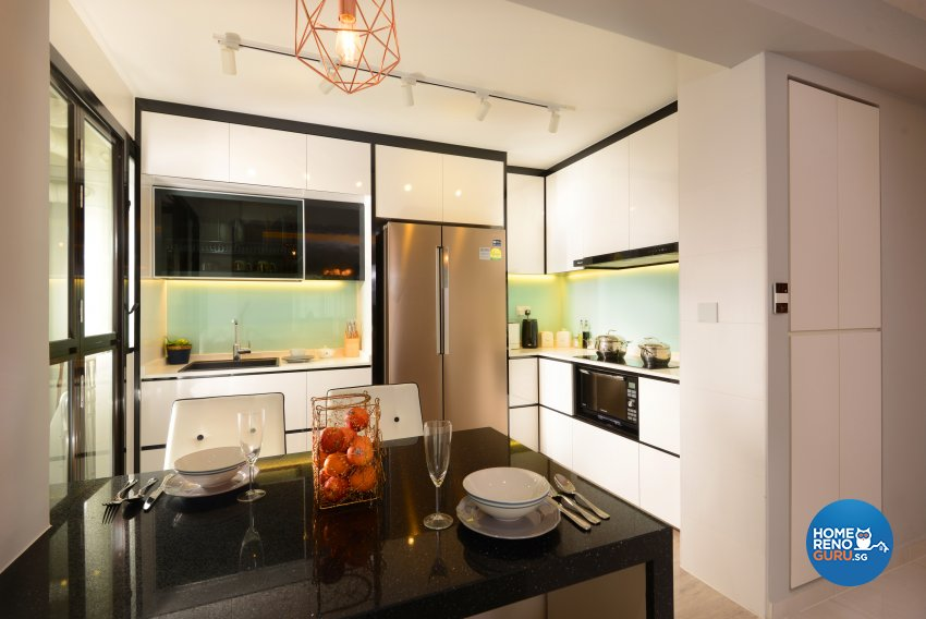 Classical, Contemporary, Modern Design - Kitchen - HDB 4 Room - Design by Darwin Interior