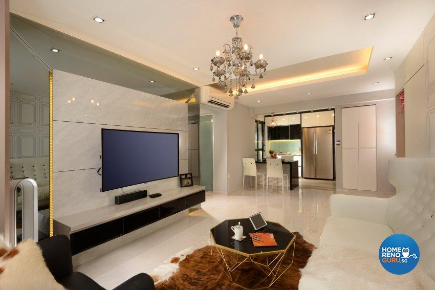 Classical, Contemporary, Modern Design - Living Room - HDB 4 Room - Design by Darwin Interior