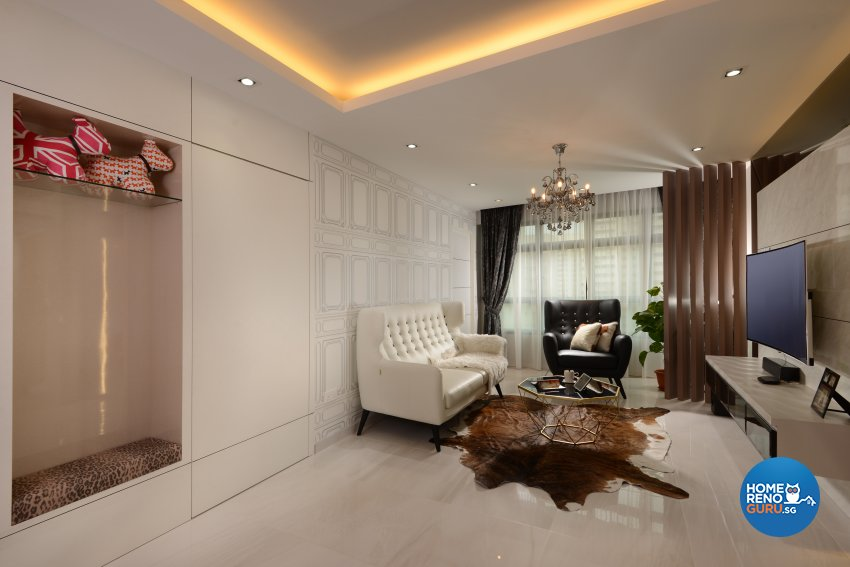 Classical, Contemporary, Modern Design - Living Room - HDB 4 Room - Design by Darwin Interior