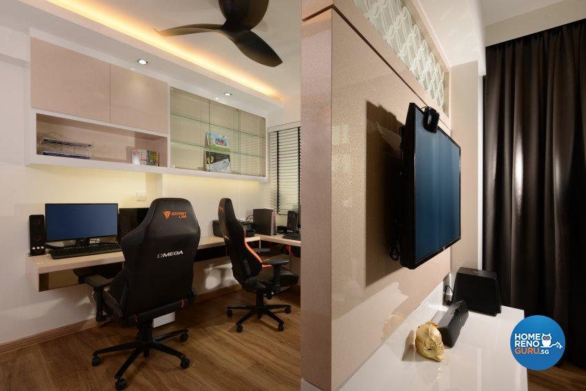 Classical, Contemporary, Modern Design - Entertainment Room - HDB 4 Room - Design by Darwin Interior