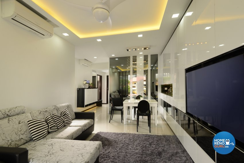 Contemporary, Minimalist, Modern Design - Living Room - HDB 4 Room - Design by Darwin Interior