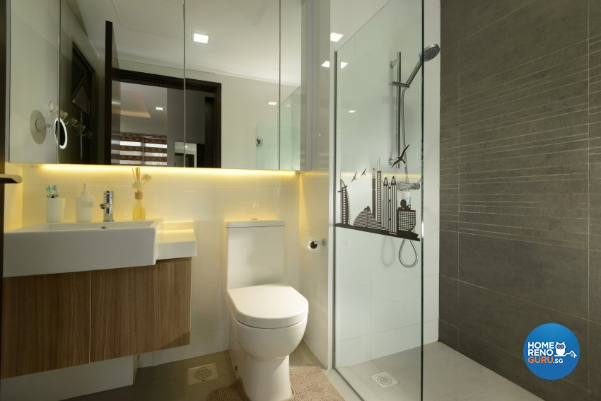 Contemporary, Minimalist, Modern Design - Bathroom - HDB 4 Room - Design by Darwin Interior