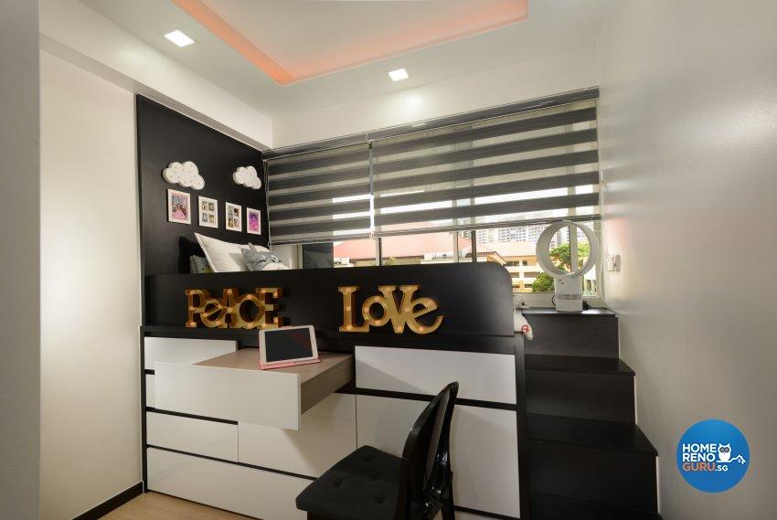 Contemporary, Minimalist, Modern Design - Bedroom - HDB 4 Room - Design by Darwin Interior