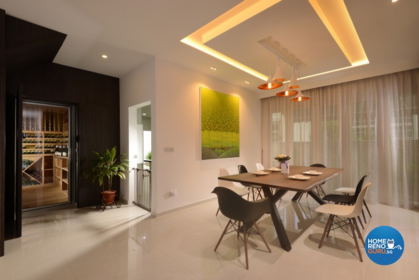 Resort Design - Dining Room - Landed House - Design by Darwin Interior