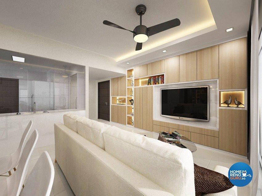 Contemporary, Modern Design - Living Room - Condominium - Design by D'Atlaz Interior Pte Ltd