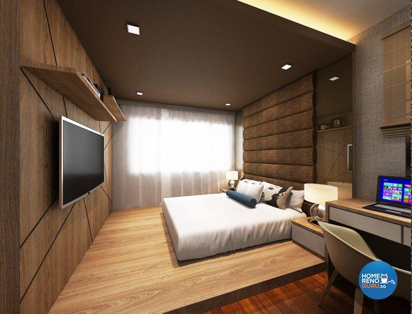 Contemporary, Modern Design - Bedroom - Condominium - Design by D'Atlaz Interior Pte Ltd