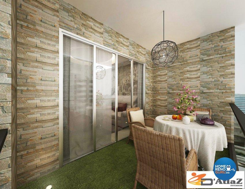 Modern Design - Balcony - Condominium - Design by D'Atlaz Interior Pte Ltd