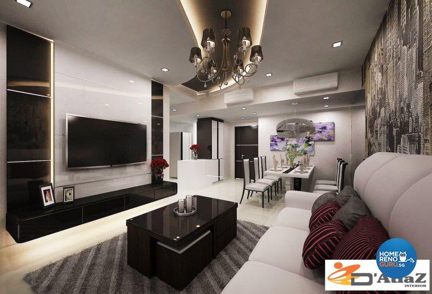 Modern Design - Living Room - Condominium - Design by D'Atlaz Interior Pte Ltd