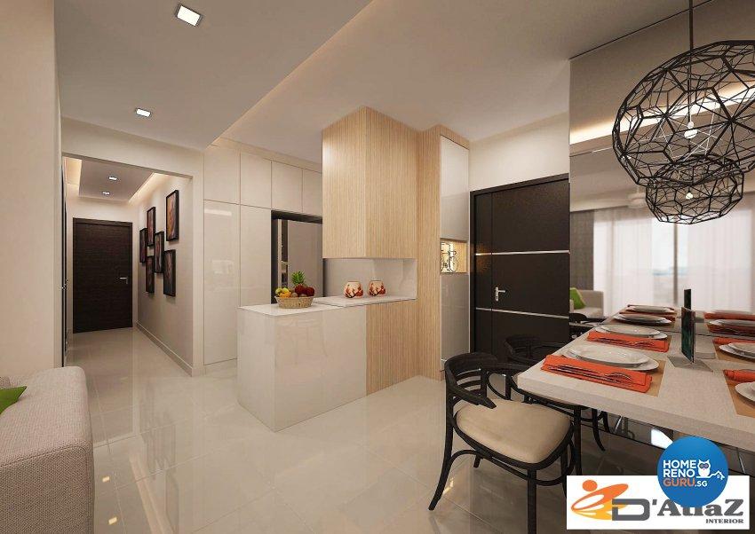 Contemporary Design - Dining Room - Condominium - Design by D'Atlaz Interior Pte Ltd
