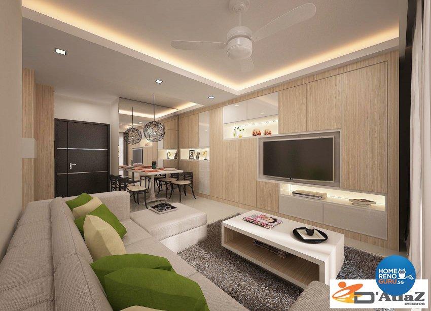 Contemporary Design - Living Room - Condominium - Design by D'Atlaz Interior Pte Ltd