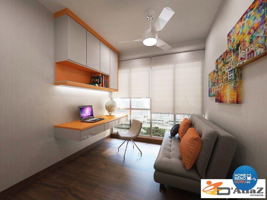 Contemporary Design - Study Room - Condominium - Design by D'Atlaz Interior Pte Ltd