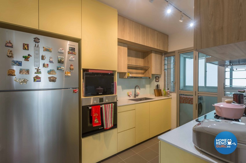 Contemporary, Modern Design - Kitchen - HDB 4 Room - Design by DB Studio Pte Ltd
